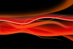 Red composition on black background Royalty Free Stock Photography