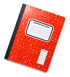Red Composition Book. On White Royalty Free Stock Images