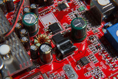 Red computer component Royalty Free Stock Photos