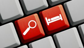 Red Computer Keyboard: Search Hotel royalty free stock photos