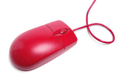 Red Computer Mouse Royalty Free Stock Photography