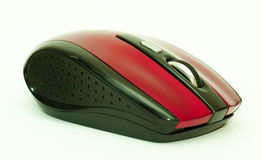 Red computer mouse. Wireless red computer mouse with buttons Stock Images