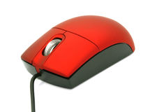 Red computer mouse Royalty Free Stock Image