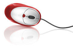 Red computer mouse stock images