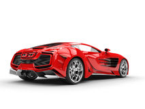 Red concept supercar - right back view Royalty Free Stock Images