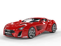 Red concept supercar - studio shot Royalty Free Stock Photo