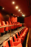 Red concert hall. Red velvet concert hall - seating Royalty Free Stock Images