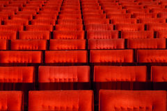 Red concert hall seats. Red concert hall, opera or theatre seats Stock Images