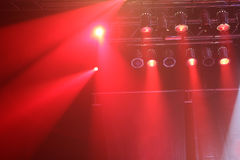 Red concert lights Royalty Free Stock Photo