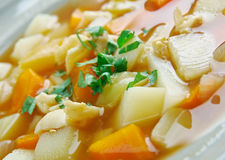 Red Conch Chowder. Bahamian Red Conch Chowder .Caribbean cuisine Royalty Free Stock Image