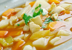 Red Conch Chowder. Bahamian Red Conch Chowder .Caribbean cuisine Stock Photo