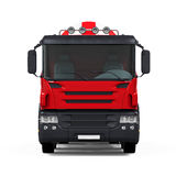Red Concrete Mixer Truck Stock Image