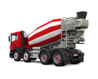 Red Concrete Mixer Truck Royalty Free Stock Photo