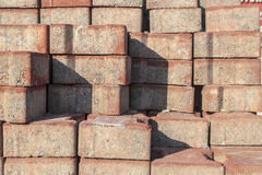 Red Concrete Paving Stone Stock Photography