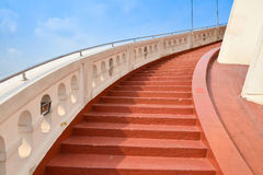 Red concrete stair Royalty Free Stock Image