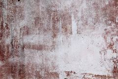 Red concrete wall with drips texture background royalty free stock photo