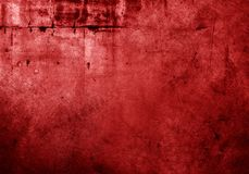 Red concrete wall. Red grunge textured wall background Royalty Free Stock Images