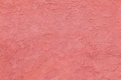 Red concrete wall with rough pattern Royalty Free Stock Photography