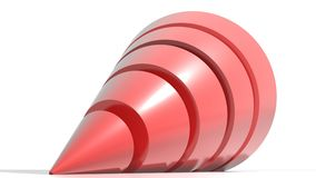Red cone Royalty Free Stock Photo