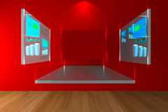 Red conference room Stock Images