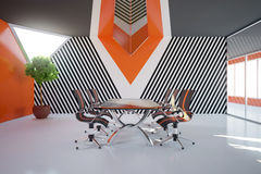 Red conference room with daylight Stock Photos