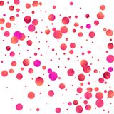 Red confetti background. Falling rose glitter. Graphic design for invitation, wedding, birthday, christmas card. Happy surprise backdrop. Abstract particles Royalty Free Stock Images