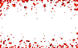 Red confetti celebration banner Stock Photography