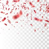 Red confetti . Festive vector background Royalty Free Stock Images