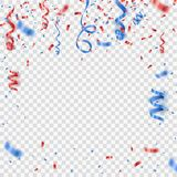 Red confetti . Festive vector background Royalty Free Stock Image