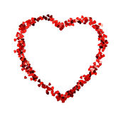Red confetti heart Stock Photo