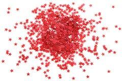 Red confetti Stock Image