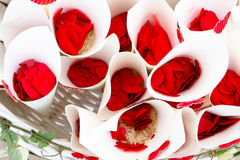 Red confetti for wedding Stock Photography