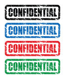 Red confidential stamp. A grungy red confidential stamp Royalty Free Stock Photography