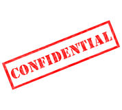 Red Confidential weathered stamp Royalty Free Stock Photography