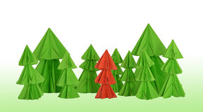 Red conifer Royalty Free Stock Images