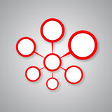 Red connected the circle Royalty Free Stock Photo