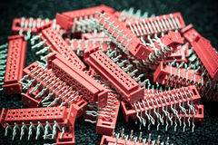 Red connectors Royalty Free Stock Photos