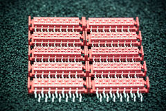 Red connectors Royalty Free Stock Images