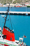 Red Conning Tower on Tugboat Stock Images