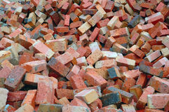 Red Construction Bricks. A heap of red soil construction bricks Stock Photo