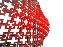 red construction with bulge wallpaper Stock Images