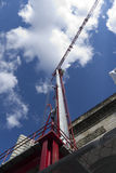 Red Construction Crane Stock Photography