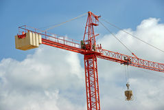 Red Construction Crane Stock Images