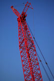 Red Construction Crane Boom Stock Image