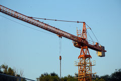 Red construction crane Royalty Free Stock Photo