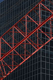 Red Construktion Cran In Front Of Office Building R04 Stock Photos