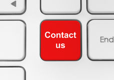 Red contact us button Stock Photo