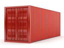 Red container. On white background Royalty Free Stock Images