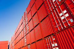 Red container blocks stock images