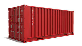 Red Container Isolated on White. Stock Images